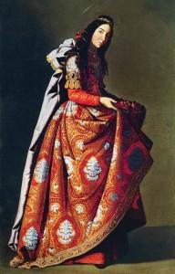 Francisco de Zurbarán, Santa Casilda (Isabel de Portugal?), um 1635, Museo Thyssen-Bornemisza, Madrid