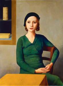 Antonio Donghi, Donna al caffé (Frau im Café), 1931