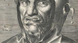 Philips Galle, Kopf eines Narren, um 1560
