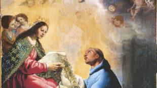 Eugenio Cajés, Der Heilige Ildefons empfängt von Maria die Kasel, 17. Jh. © Musée des Beaux-Arts de Bordeaux, Foto: L. Gauthier, F. Deval