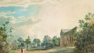 Simon Petrus Klotz, Das Kasino im Englischen Garten in München, 1795, München, Privatbesitz