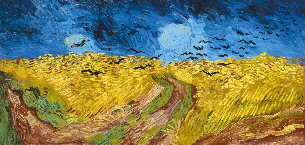 Vincent van Gogh, Kornfeld mit Krähen, 1890