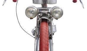 Mecadural Pélissier, Langstreckenrad von Mercier aus Frankreich, um 1950 Cyclopedia, der Katalog zur Sammlung Embacher, ist bei Dumont erschienen und kostet 29,99 € © Embacher-Collection, Foto: Bernhard Angerer
