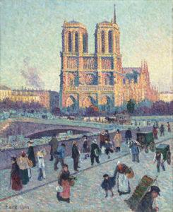 Maximilien Luce, Die Uferstraße von Saint-Michel und Notre-Dame, 1901, Musée d ́Orsay, Paris