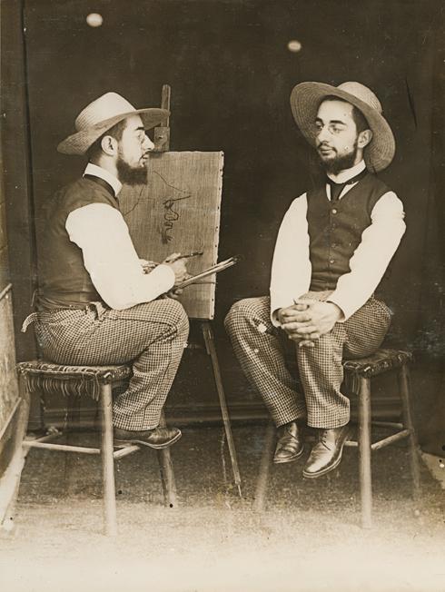 Maurice Guibert, Lautrec porträtiert Lautrec, um 1894, Collection Georges Beaute © Beaute, Réalmont; Photographe David Milh