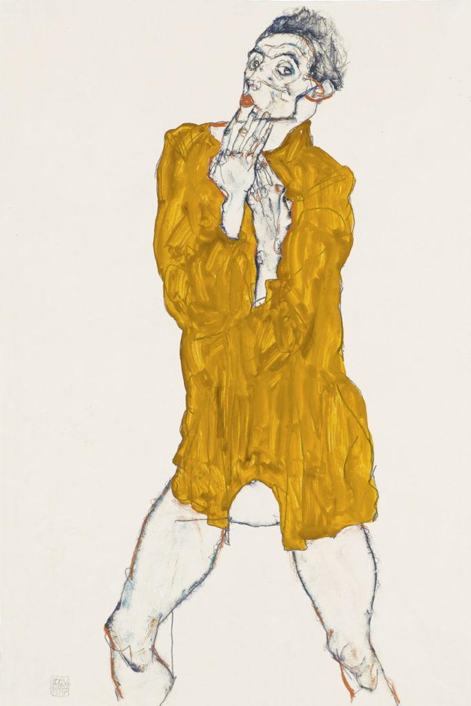 Egon Schiele, Selbstbildnis, 1914 Staatsgalerie Stuttgart, Graphische Sammlung