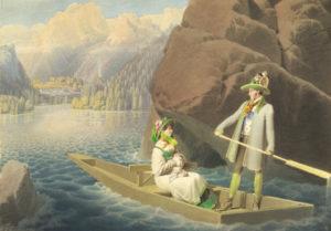 Matthäus Loder, Erzherzog Johann und Anna Plochl im Boot, um 1824/25