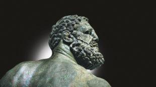 Detail der Statue eines Faustkämpfers, aus Rom, 2. Hälfte des 4. Jh. v. Chr. oder 3. Jh. v. Chr. Foto: akg-images/Jürgen Raible