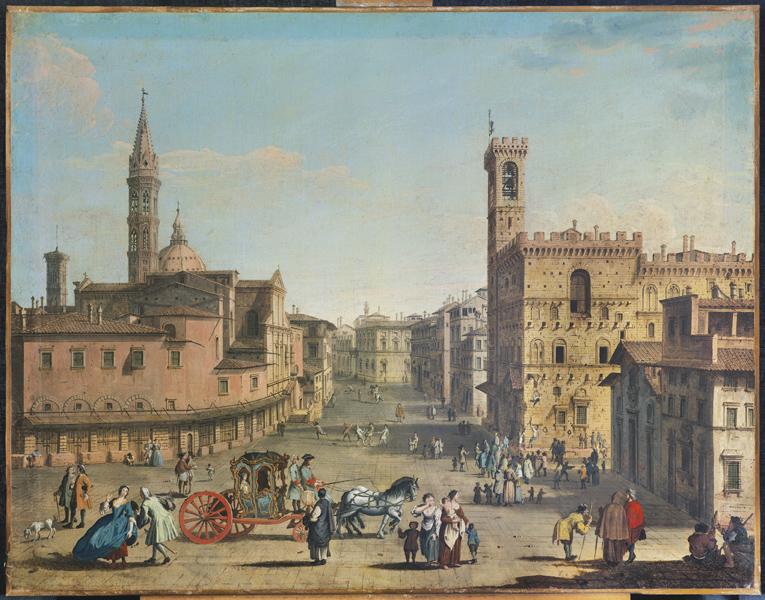 Giuseppe Zocchi, Piazza San Firenze, 18. Jahrhundert