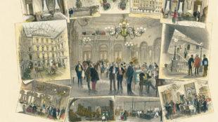 Gustav Sundblad, Im Gasthof zu den Drei Mohren Augsburg, 1878, Haus-Archiv Hotel Drei Mohren, Augsburg