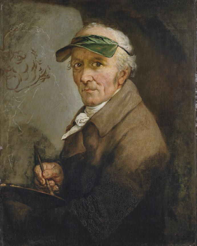 Anton Graff , Selbstbildnis mit Augenschirm, 1813