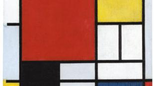 Piet Mondrian, Komposition mit großer roter Fläche, Gelb, Schwarz, Grau und Blau, 1921, Gemeentemuseum Den Haag © 2014 Mondrian/Holtzman Trust c/o HCR International USA