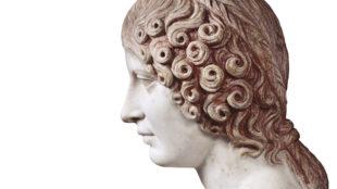 orträtbüste einer Frau, aus der Casa del Citarista, claudisch, 41–54 n. Chr., Archäologisches Nationalmuseum Neapel