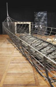 Roskilde 6, Langschiff, das größte jemals entdeckte Wikingerschiff, 37 Meter lang, gebaut in Südnorwegen um 1025, absichtlich versenkt Mitte des 11. Jh. in Dänemark © Nationalmuseum Dänemark