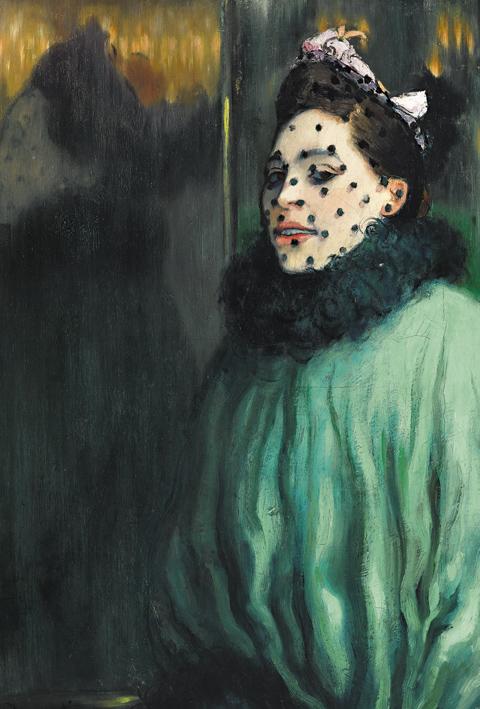 Louis Anquetin, Femme à la voilette, 1891, © Privatsammlung, courtesy of D. Nisinson.
