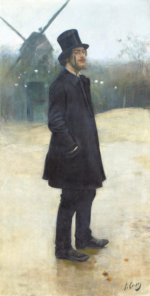 Ramon Casas, Le Bohème, poète de Montmartre (Portrait d'Erik Satie), Detail, 1891 Courtesy Northwestern University Library