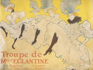Henri de Toulouse-Lautrec, Mademoiselle Eglantine's Troupe, 1896 © Kunsthalle Bremen – Der Kunstverein in Bremen, Kupferstichkabinett, Foto: Lars Lohrich