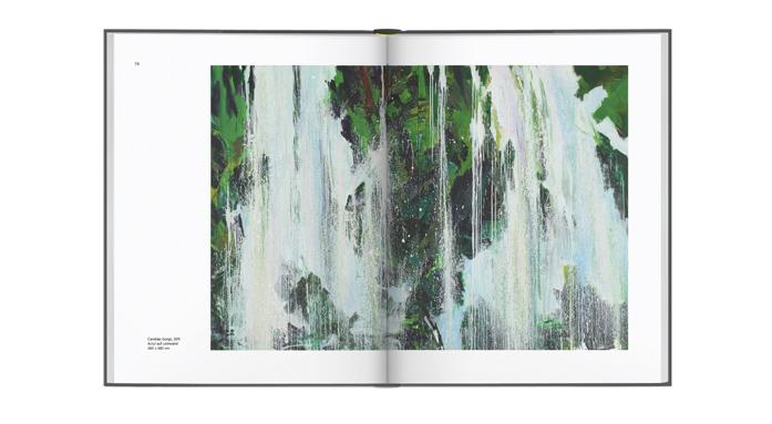 Doppelseite aus der Publikation Bernd Zimmer. Alles fließt