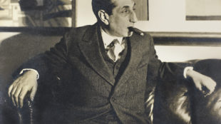 Alfred Flechtheim in der Fernand Léger-Ausstellung, 1928Foto: Lily Baruch, © Königliche Bibliothek Kopenhagen