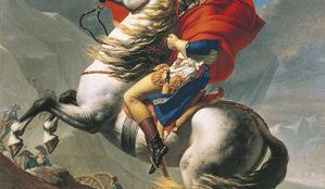 Jacques Louis David, Napoleon am Großen St. Bernhard, 1801 © Belvedere, Wien
