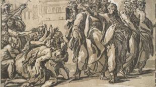 Giuseppe Nicola Vicentino (Rossigliani), Christus heilt die Aussätzigen, Sammlung Georg Baselitz