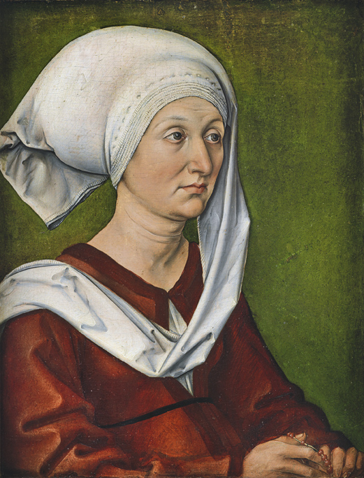 Albrecht Dürer, Bildnis der Mutter des Künstlers, Barbara Dürer, geb. Holper, um 1490 Foto: Germanisches Nationalmuseum, Nürnberg