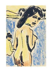 Ernst Ludwig Kirchner, Badende an den Moritzburger Teichen, 1909, Brücke-Museum Berlin