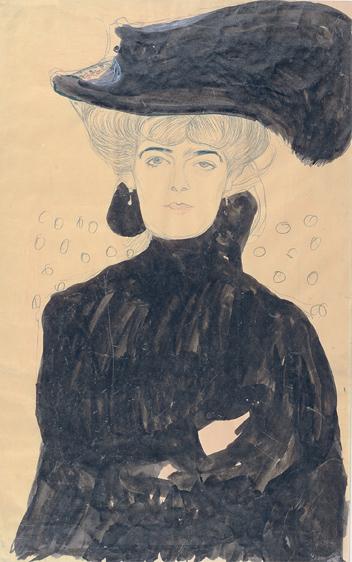 Gustav Klimt, Dame mit Federhut, 1908, Albertina, Wien