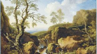 Christian Wilhelm Ernst Dietrich, Landschaft mit Wasserfall. © Christie's Image Limited 2012