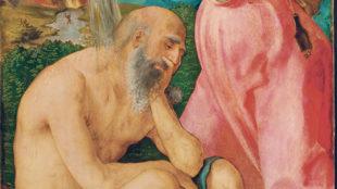 Albrecht Dürer, Hiob auf dem Misthaufen, linker Außenfl ügel des so genannten Jabach- Altars, um 1503/1505. Frankfurt am Main, Städel Museum, Nr. 890