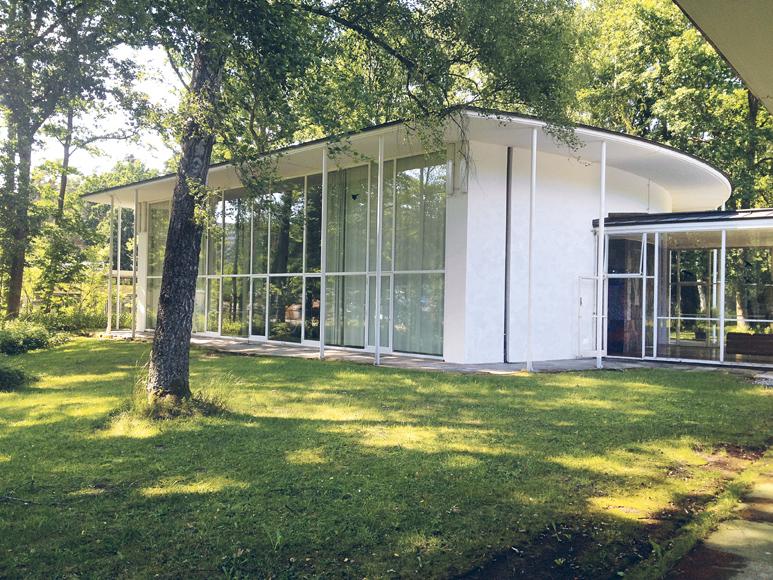 Sep Ruf entwarf die 1954 erbauten Pavillons der Akademie für den bewaldeten Campus am östlichen Stadtrand Nürnbergs© Akademie der Bildenden Künste in Nürnberg