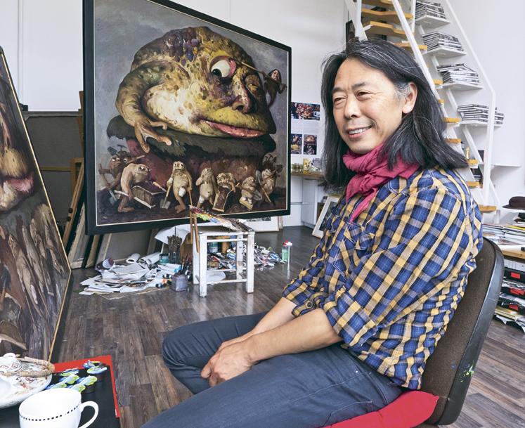 Yongbo Zhao in seinem Münchner Atelier, 2012 © Anne Funck, München