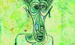 """Ibrahim El-Salahi, Self-Portrait of Su""""ering, 1961, Iwalewa-Haus, Universität Bayreuth © VG Bild-Kunst, Bonn 2016"""