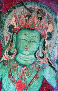 Blauer Manjushri, rote Versammlungshalle, Lhakhang Marpo Tempel© Foto: Courtesy J. Poncar
