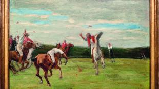 Max Liebermann, Polospieler in Jenischs Park, 1903, Privatbesitz
