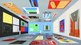 Thomas Huber, Halle, Massangaben I, 2013, Ditesheim & Ma!ei Fine Art, Neuchâtel © VG Bild-Kunst, Bonn 2016; Foto: Winfried Mateyka, Berlin