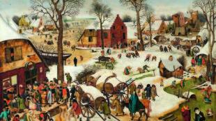 Pieter Brueghel d. J. nach Pieter Brueghel d. Ä., Die Volkszählung in Bethlehem, 1607, Liechtenstein. The Princely Collections, Vaduz–Vienna