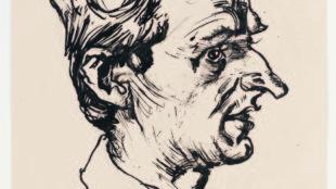 Ludwig Meidner, Joachim Ringelnatz, 1919, Institut Mathildenhöhe, Städtische Kunstsammlung Darmstadt © Ludwig Meidner-Archiv, Jüdisches Museum der Stadt Frankfurt am Main; Foto: Gregor Schuster