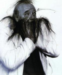 Arnulf Rainer, Ulrich Wildgruber, 1997/98 © Theaterwissenschaftliche Sammlung, Universität zu Köln; Foto: Christina Vollmert