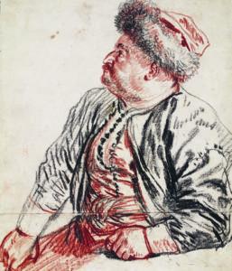 Antoine Watteau, Sitzender Perser, 1715, Teylers Museum, Haarlem © Foto: Teylers Museum, Haarlem