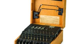 Chiffriermaschine Enigma M4 mit vier Walzen in Marineausführung, 1944 Foto: Museumsstiftung Post und Telekommunikation