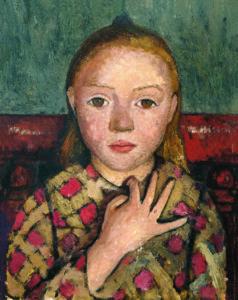 Paula Modersohn-Becker, Mädchenbildnis mit gespreizter Hand vor der Brust, um 1905, Von der Heydt-Museum, Wuppertal