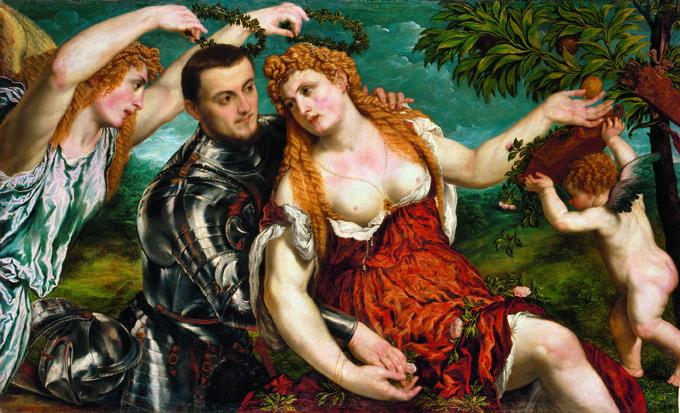 Paris Bordone, Allegorie (Mars, Venus, Victoria und Cupido), um 1560, Kunsthistorisches Museum Wien, Gemäldegalerie © KHM-Museumsverband