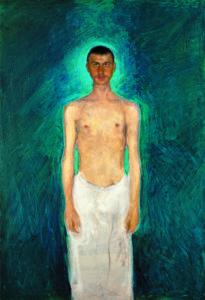 Richard Gerstl, Selbstbildnis als Halbakt, 1902/04, Leopold Museum, Wien © Leopold Museum, Wien
