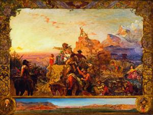 Emanuel Gottlieb Leutze, Westwärts geht das Imperium seinen Weg, 1861 © Gilcrease Museum, Tulsa, Oklahoma