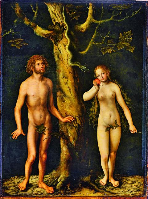 Lucas Cranach d. Ä., Adam und Eva, um 1510, Nationalmuseum, Warschau Foto: Ligier Piotr/Muzeum Narodowe w Warszawie