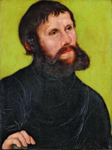 Lucas Cranach d. Ä., Bildnis Martin Luthers als Junker Jörg, 1521, Museum der bildenden Künste, Leipzig © bpk/Museum der bildenden Künste, Leipzig