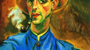 Max Pechstein, Selbstbildnis mit Hut und Pfeife, 1918, Kunsthaus Zürich © Pechstein - Hamburg/Tökendorf