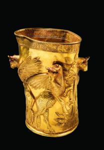 Becher mit Repousséverzierung, spätes 2. – frühes 1. Jt. v. Chr.